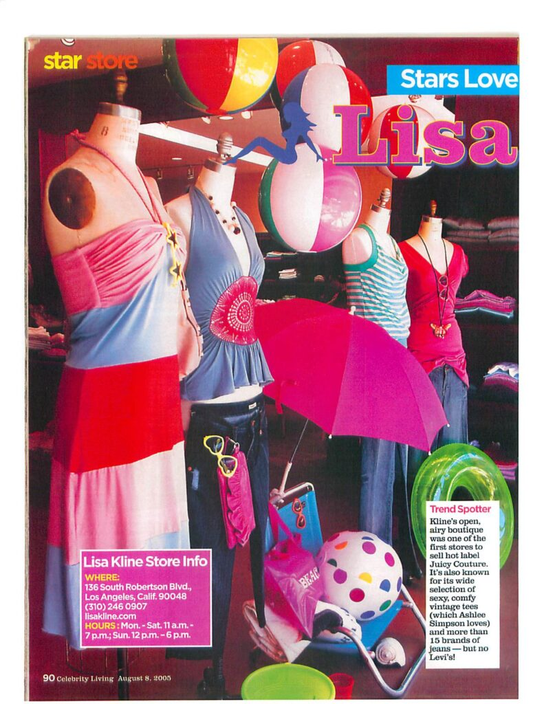 Beach Window Display Featured in Celebrity Living Magazine-page-002